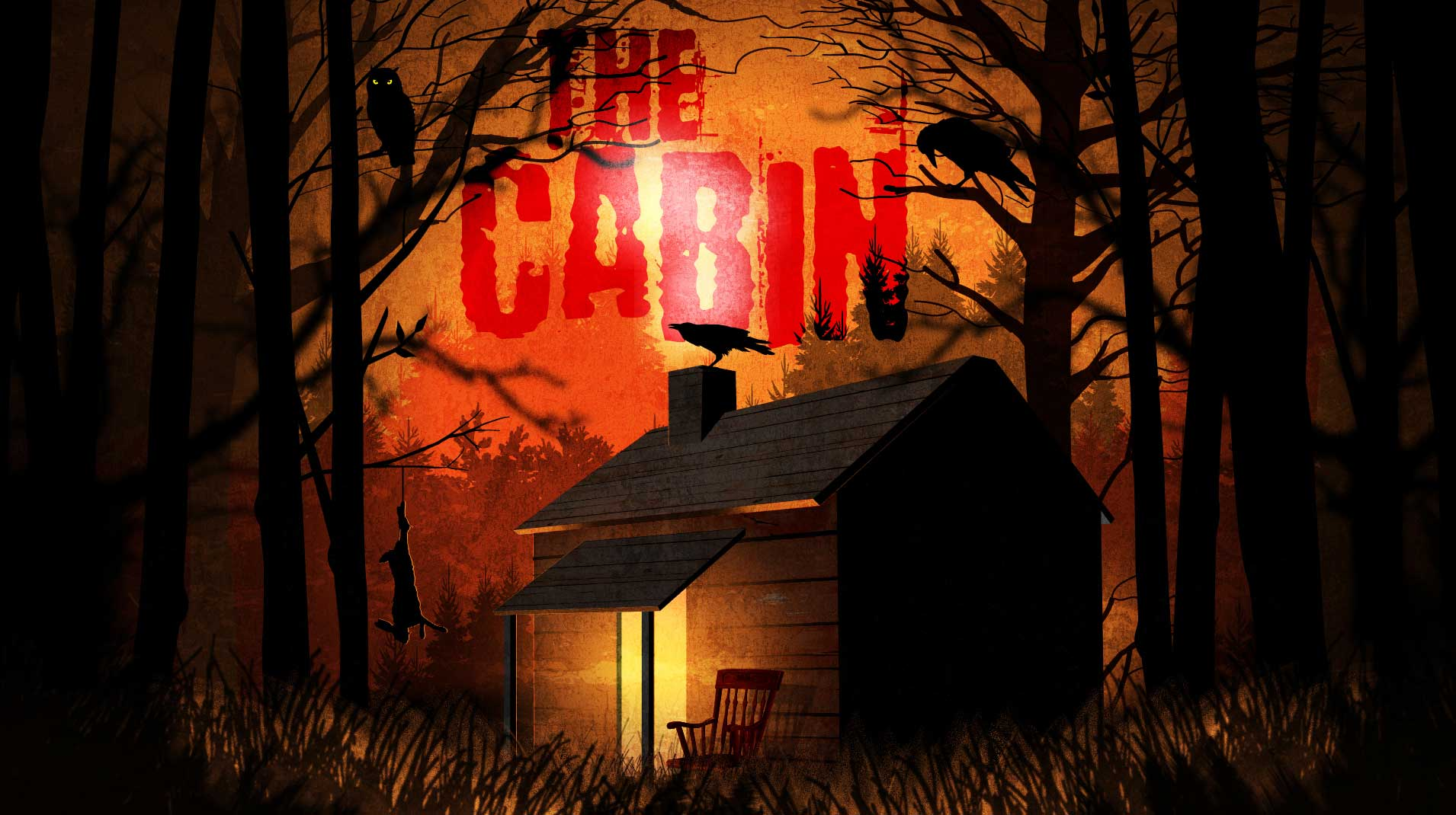 the cabin - A Tale speaks of a Cabin, abandoned and forgotten deep in the dark woods. But rumours have spread of a treasure hidden. The artifacts and riches guarded within. What awaits you inside, no one will know, For the brave and cunning you'll soon get the flow. For the weak and the rest you'll soon discover. The secrets of the cabin that were once covered.