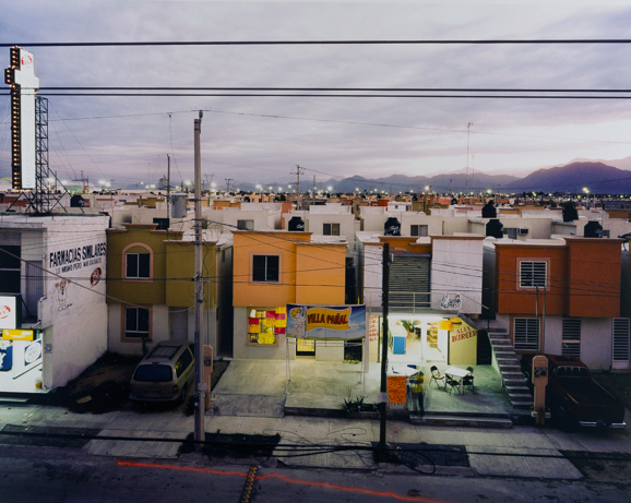 """Alejandro Cartagena Gonzalez  (Mexican, b. 1977)   Business in Newly Built Suburb in Juarez , from the """"Suburbia Mexicana"""" series,  2009"""