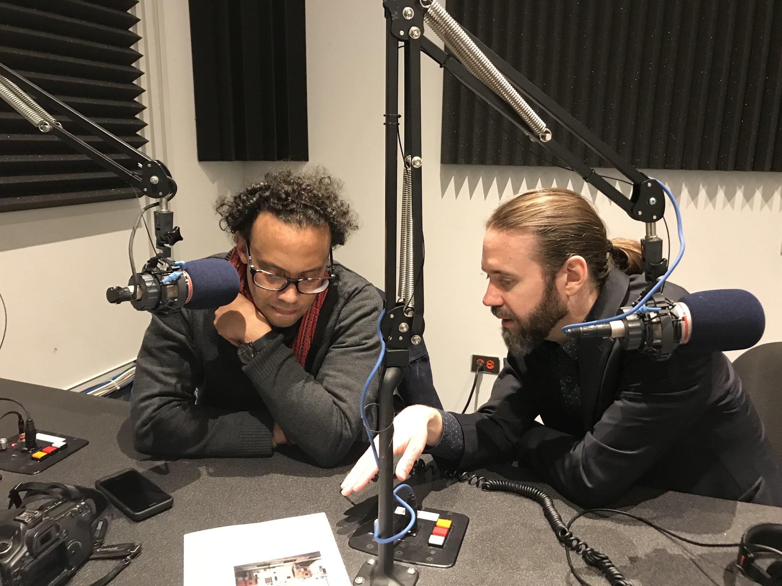 Carlos Javier Ortiz (left) and David Schalliol (right)