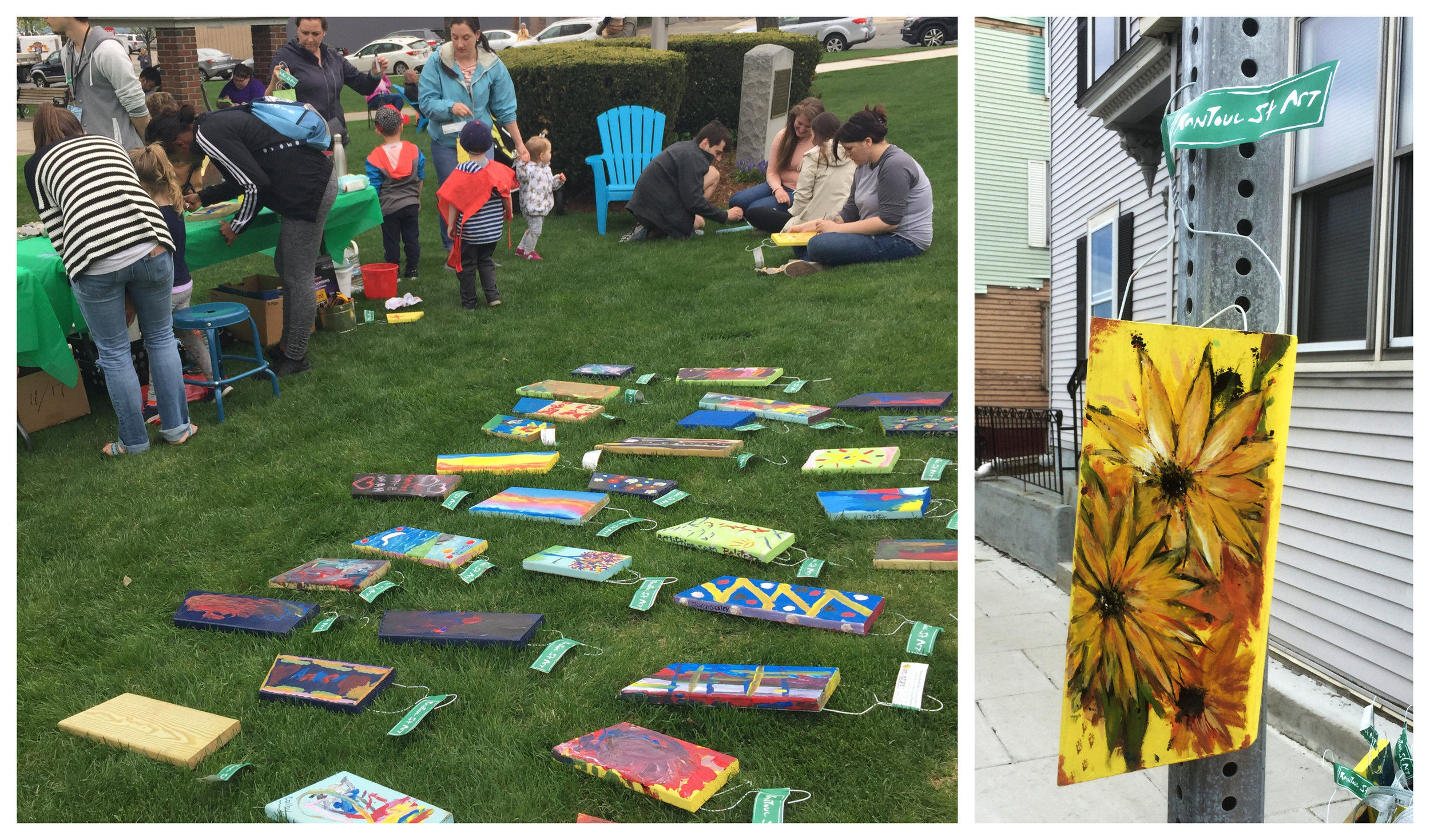 """Rantoul Street Art"" is a participatory community art project that engaged the local community at the Rantoul St Celebration that happened last Sunday, May 6th."