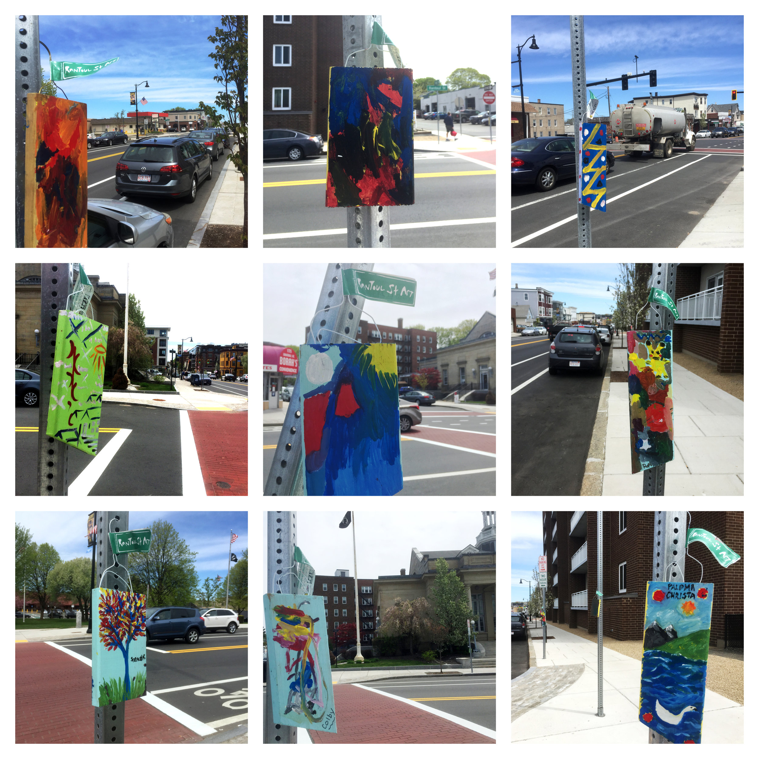 Rantoul Street Art are now installed on Rantoul Street from Railroad Ave to Federal St