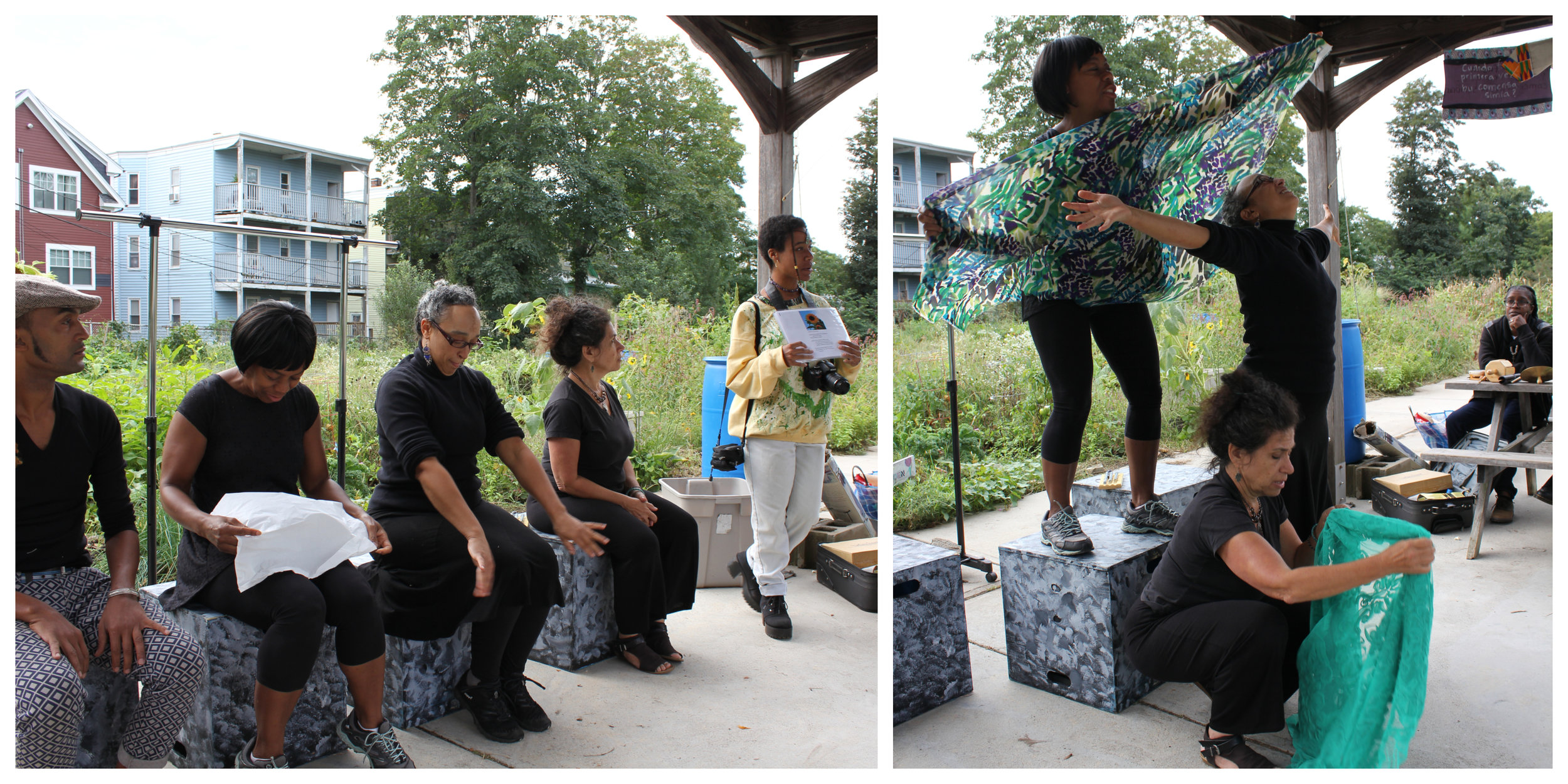"Pharess Marie recites her poem. Rage Sage Stories perform their interpretation of ""The Garden"""