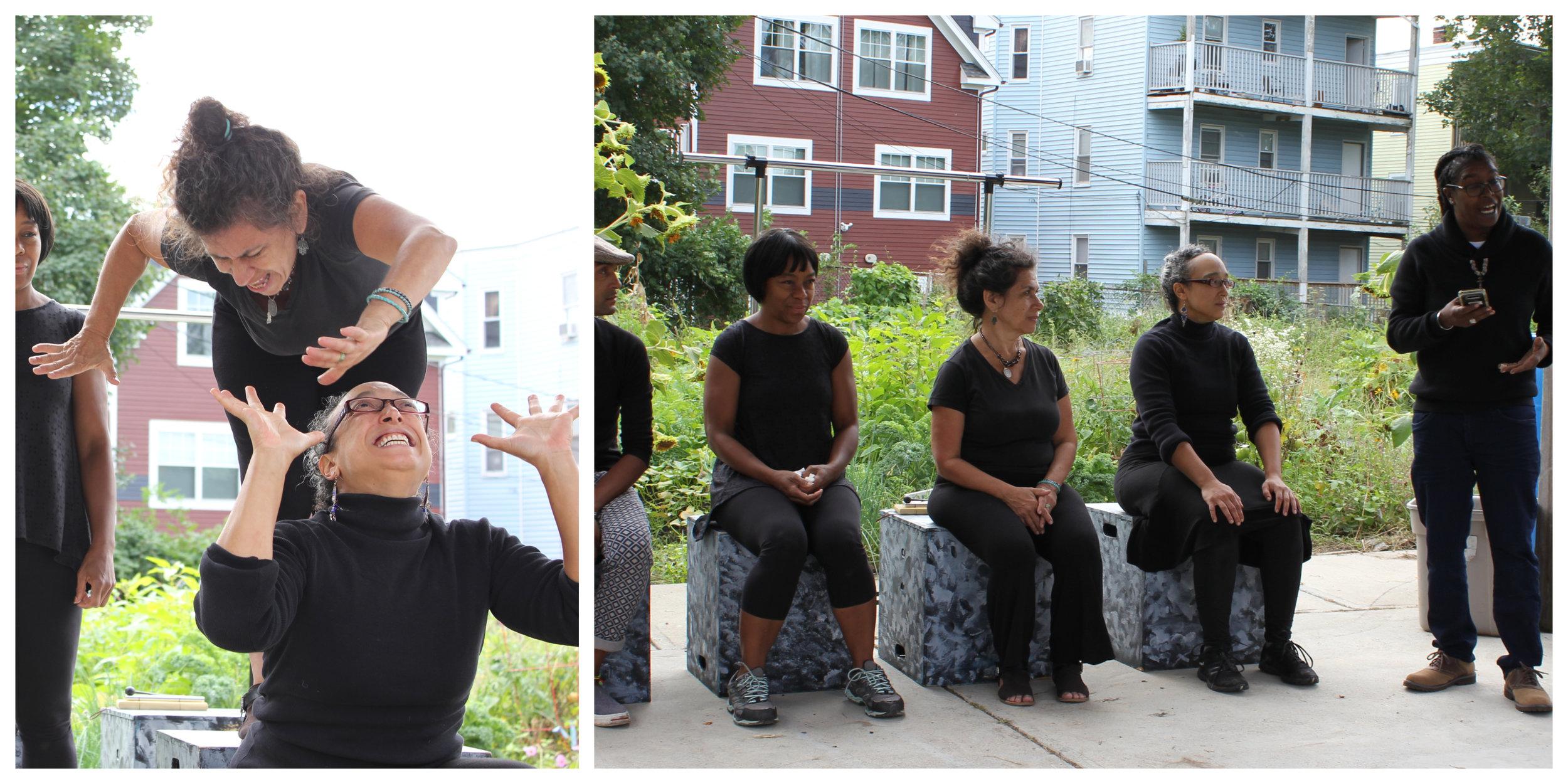 "Letta Neely recites her poem. Red Sage Stories perform their interpretation of ""Sunflowers"""