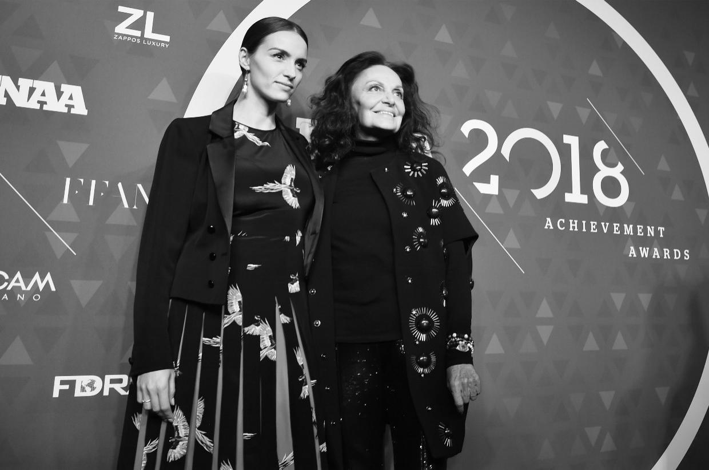 Chloe Gosselin with Diane von Furstenberg before the ceremony