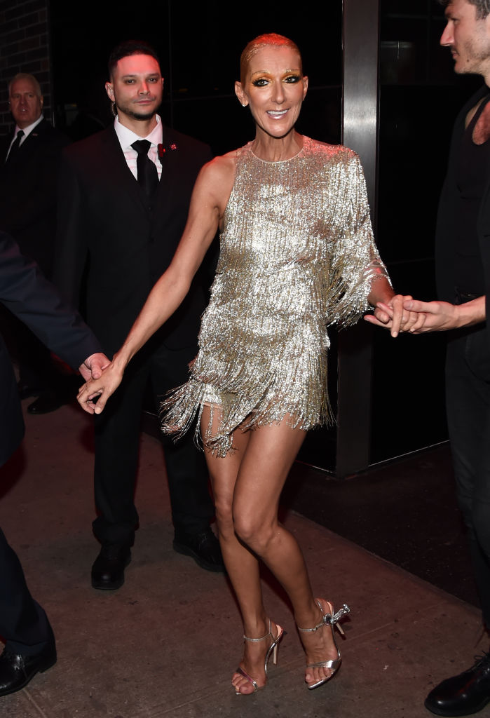 Celine Dion wears Tori