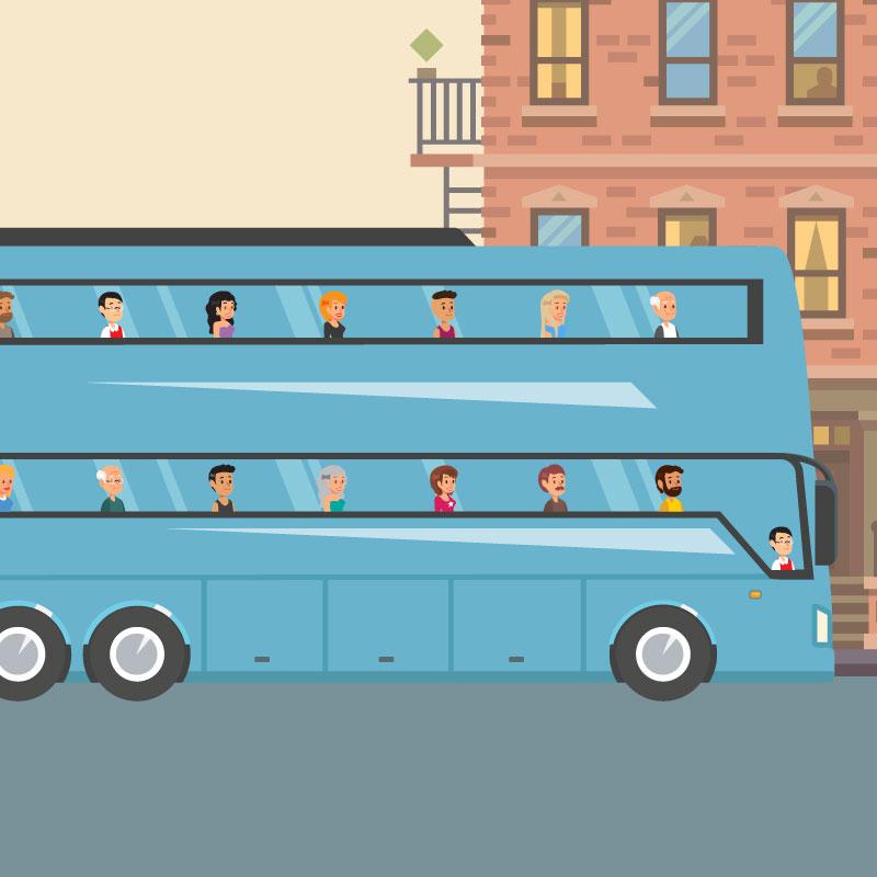Proposition #8 - Optimiser le transport collectif régulier (Transilien, RER, métro, bus, tramway, autocars express) sur les axes où il est pertinent et faciliter l'usage des autres modes quand le transport collectif n'est plus pertinent