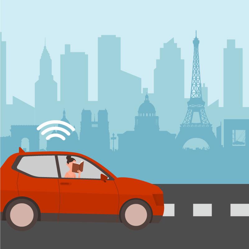 la mobilité autonome - Repenser le temps de mobilité, sécuriser les déplacements, libérer l'espace public, permettre une meilleure accessibilité aux personnes à mobilité réduite et améliorer la compétitivité économique des transports et infrastructures