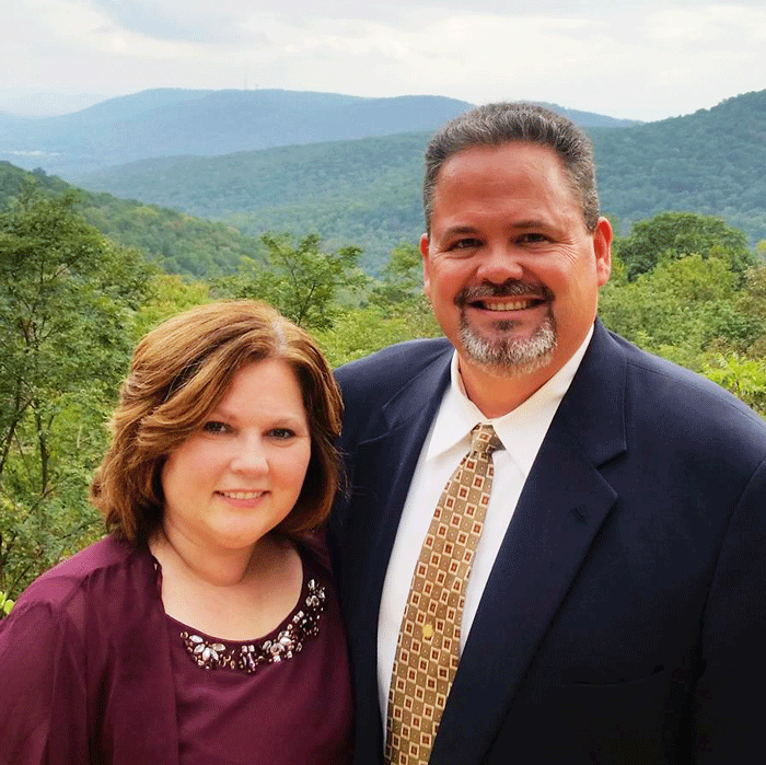 Pastor Taylor Hodges and his wife Michelle
