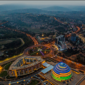 Kigali Convention Center - The 2018 GIM will take place at the state-of-the-art Kigali Convention Center (KCC), which in the past has hosted the 27th African Union Summit and other high-level meetings.KCC's main building, comprising the dome and a number of venues of various sizes, provides a multi-functional hall suitable for events of all types and sizes, whether you plan to host a small conference of 100 guests or a seated concert with 2,600 guests. The space has equal potential as a market, festival and meeting and dining place for the city's residents and visitors. The translucent dome's impressive illuminations work is reflected from the exterior of the complex, wowing the whole city with its remarkable light show.from Rwanda Meeting Planners Guide 2018
