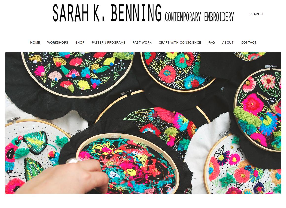 Sarah K. Benning, Craft with Conscience, 2017 -