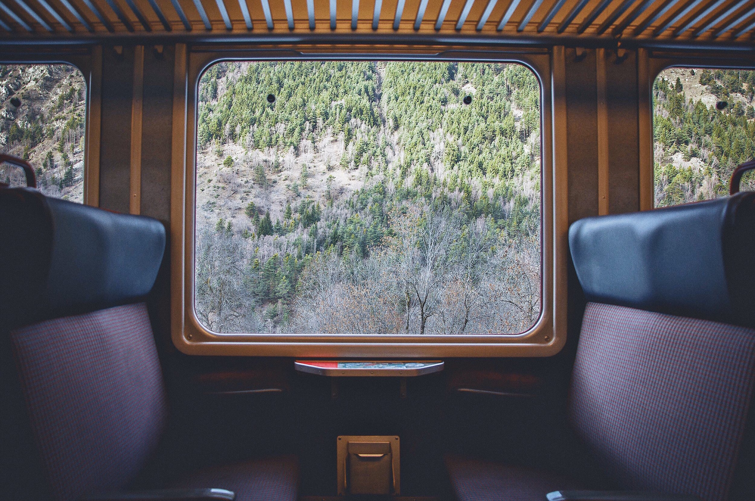 By train - We find the right train journeys and accommodation for you and recommend some interesting activities along the way.