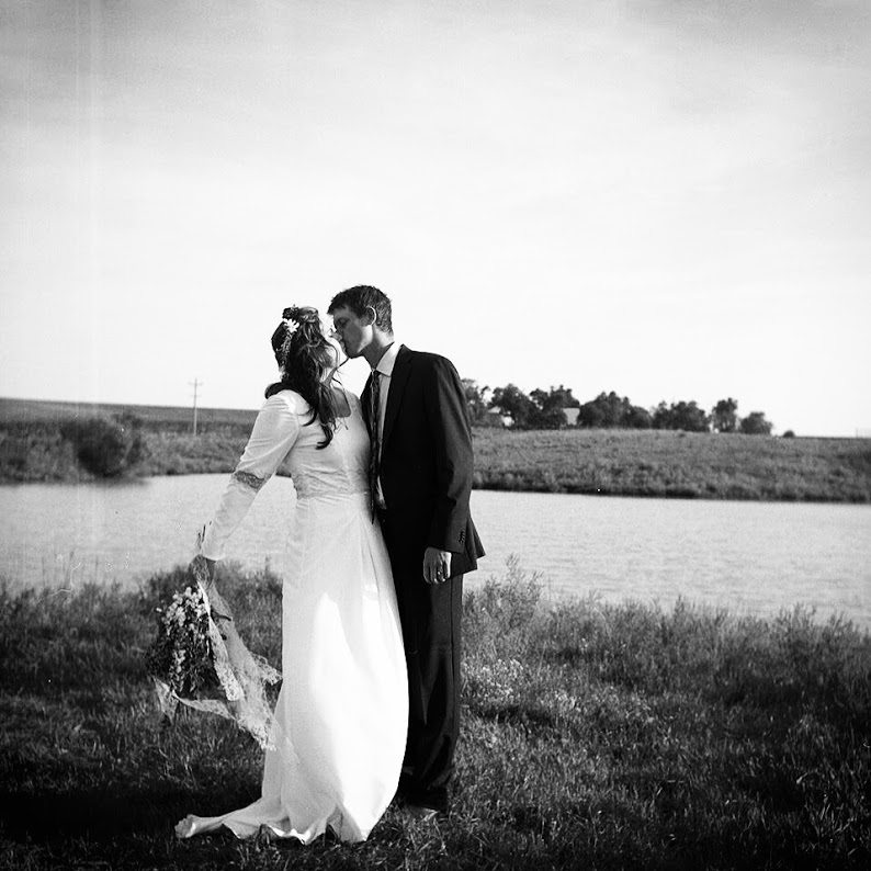 Paul and I at our pasture wedding. One of the most treasured days of my life. Thank you to my dear friend Julian for this photo.