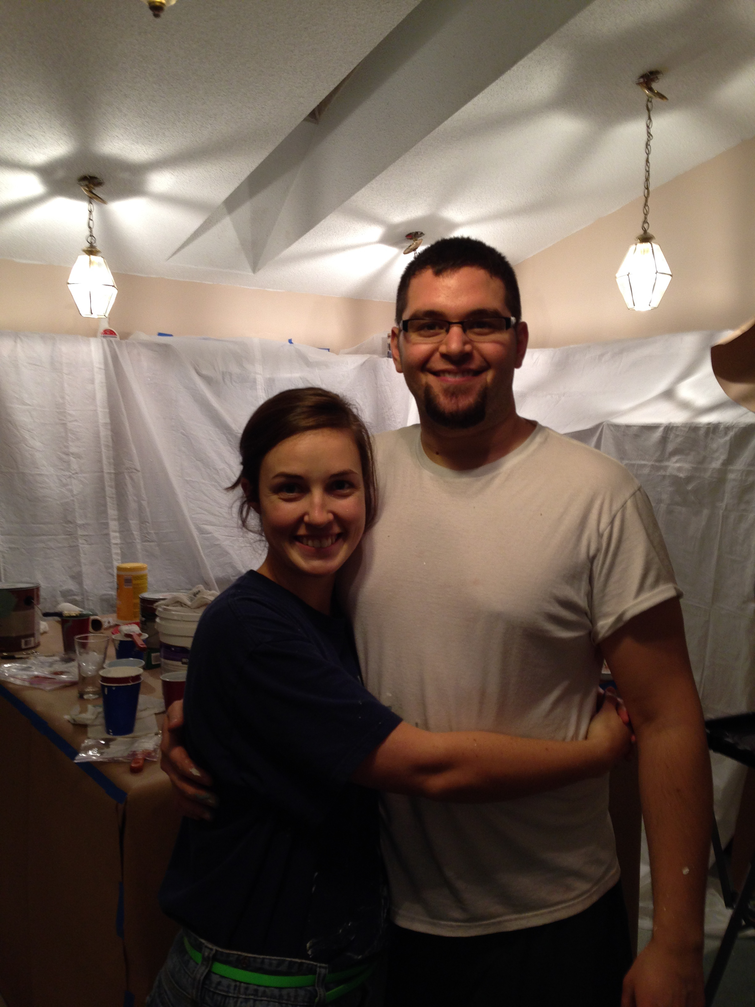 Nate and I painting
