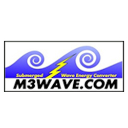 M3 WAVE ENERGY'S FULLY-SUBMERGED OCEAN POWER DEVICE CONVERTS WAVE ENERGY TO ELECTRICITY. -