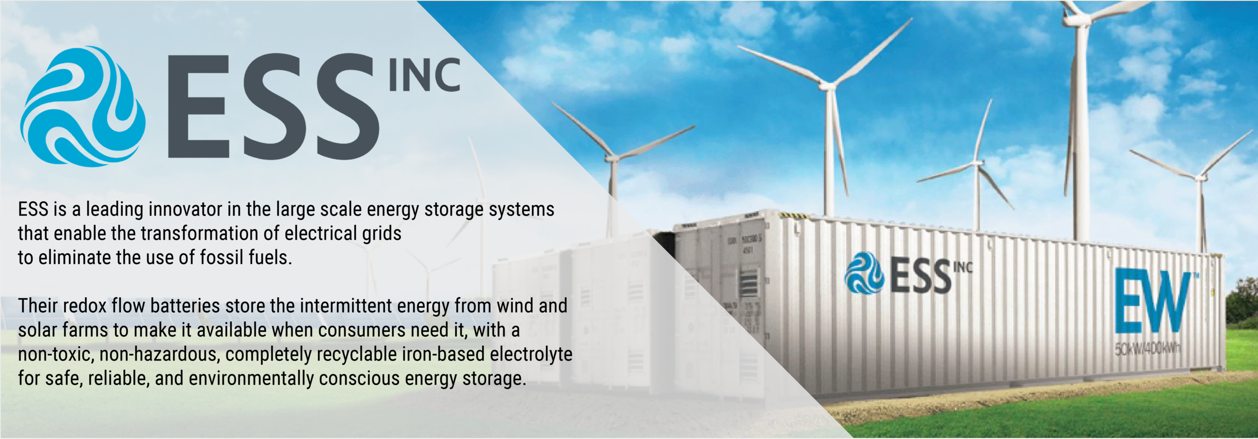 Feature ESS energy storage redox flow battery