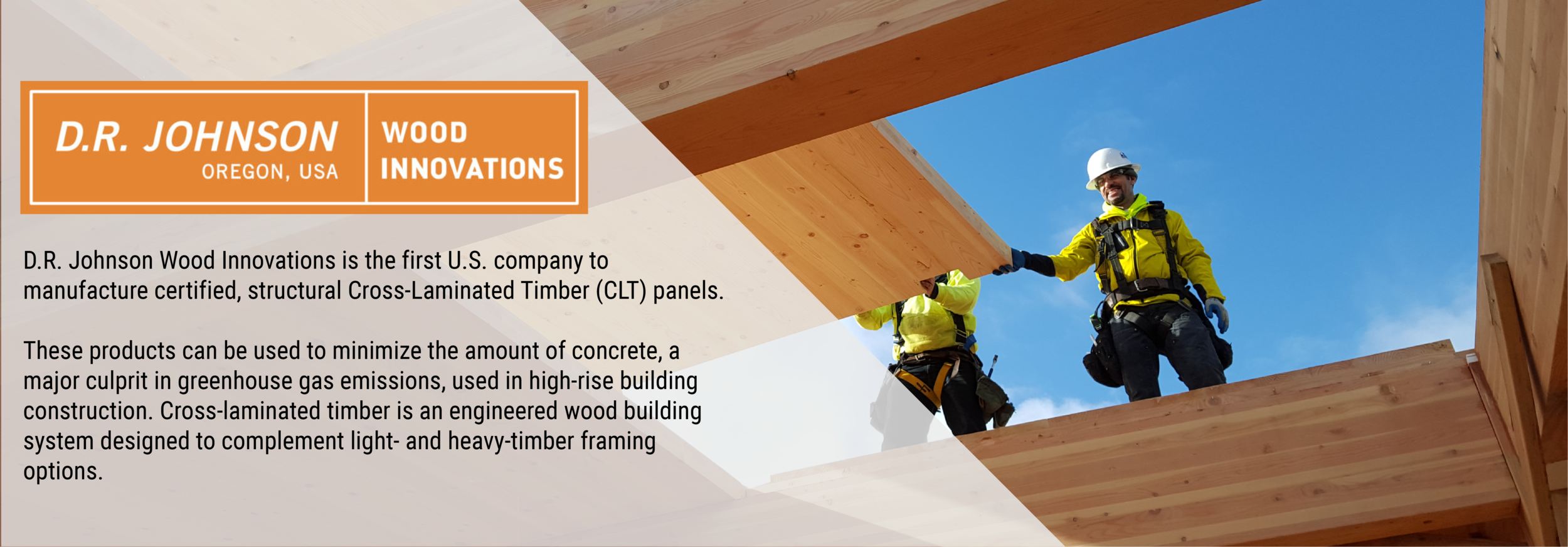 Feature DR Johnson Cross Laminated Timber