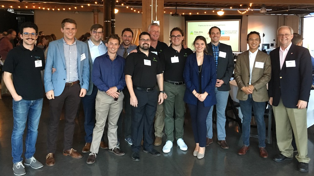 Members of last year's 2018 Cohort of the Cascadia CleanTech Accelerator, which is co-hosted by VertueLab and CleanTech Alliance