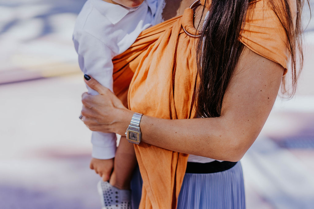 tips for baby-wearing after c-section