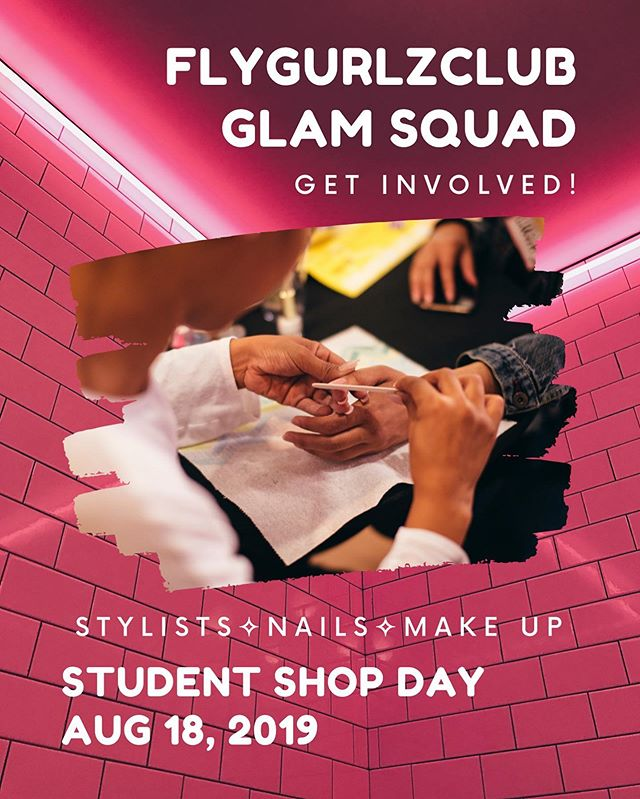 Following the Donation Drive is the Student Shop Day on August 18th! Students shop with personal stylists & receive free mini manis and glam overs from local artists! To join the Glam Squad, please send a DM with your email or send referrals over! 💅🏾💅🏾💅🏾