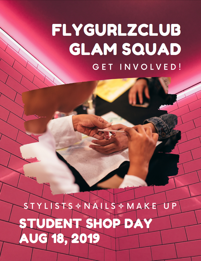 Let's Get Glam - ✧ Make-Up & Nail Artists ✧We welcome aspiring to professional artists to provide manicures, mini glam-sessions, and demo beauty & skincare tips✧ Visual Merchandisers & Stylists ✧Merchandise donations into collections & help style the gurlz on Student Shop Day. Lead DIY workshops on how to personalize pieces from distressing, patches, paint, & more.✧ Brand Partners & Sponsorships ✧We seek products and supplies for our glam stations including makeup, nail lacquer, clean beauty and skincare, event decor, clothing fixtures, food & beverage.Ready? Sign Up Below!