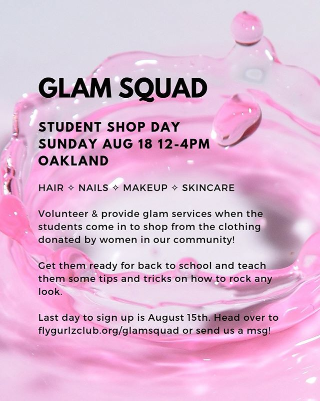 LET'S ✨ GET ✨ GLAM! Let us know if you're interested in providing high school students free glam services at Student Shop Day on August 18th 💅🏾💅🏽💅🏼