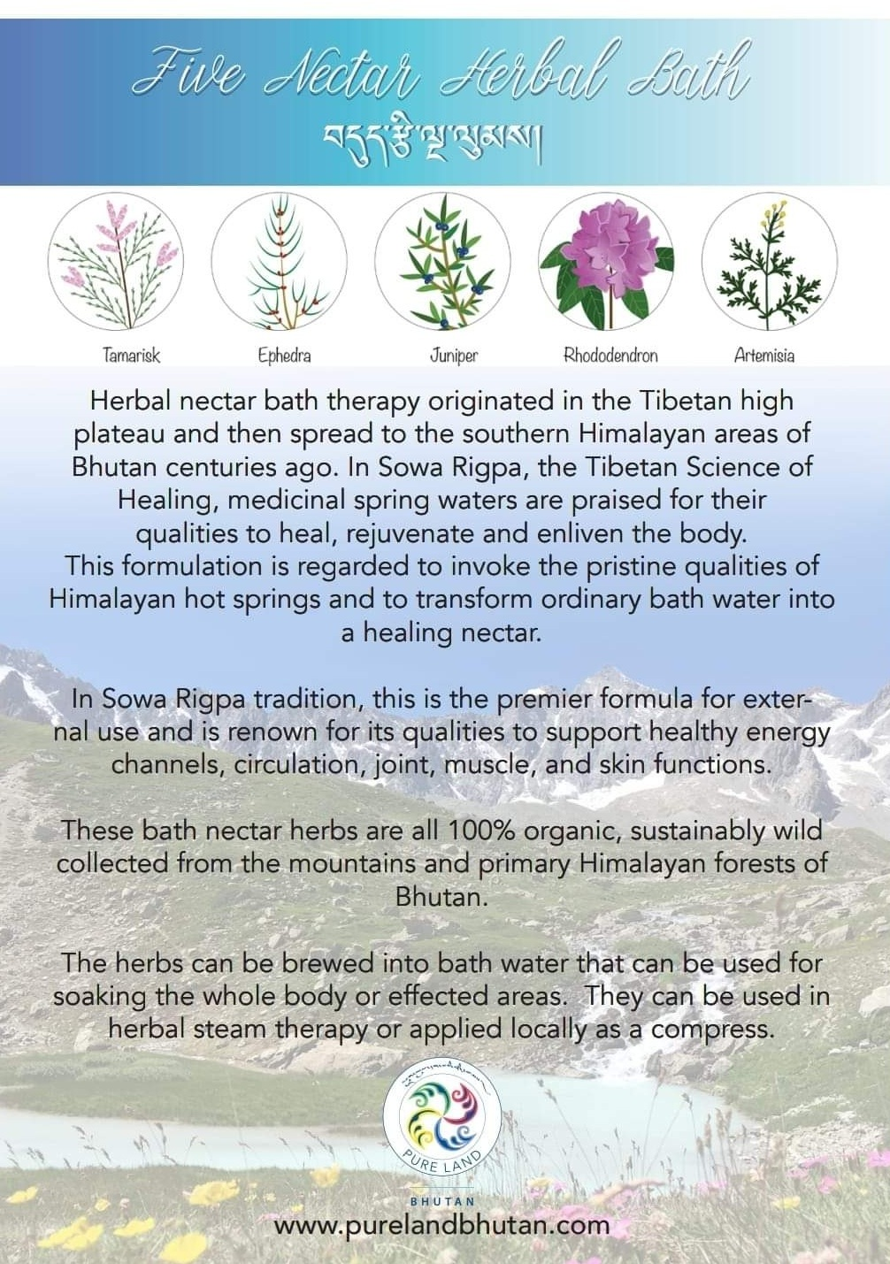 - Look out for our first productFive Nectar Herbal Bath!