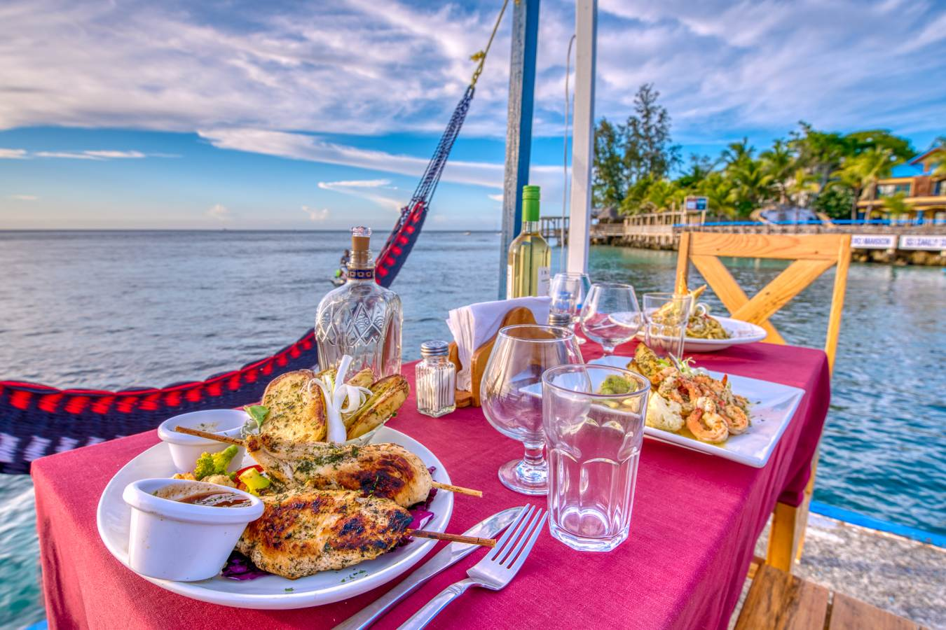 Dine on our Pier with food from THE SUNSET GRILL…