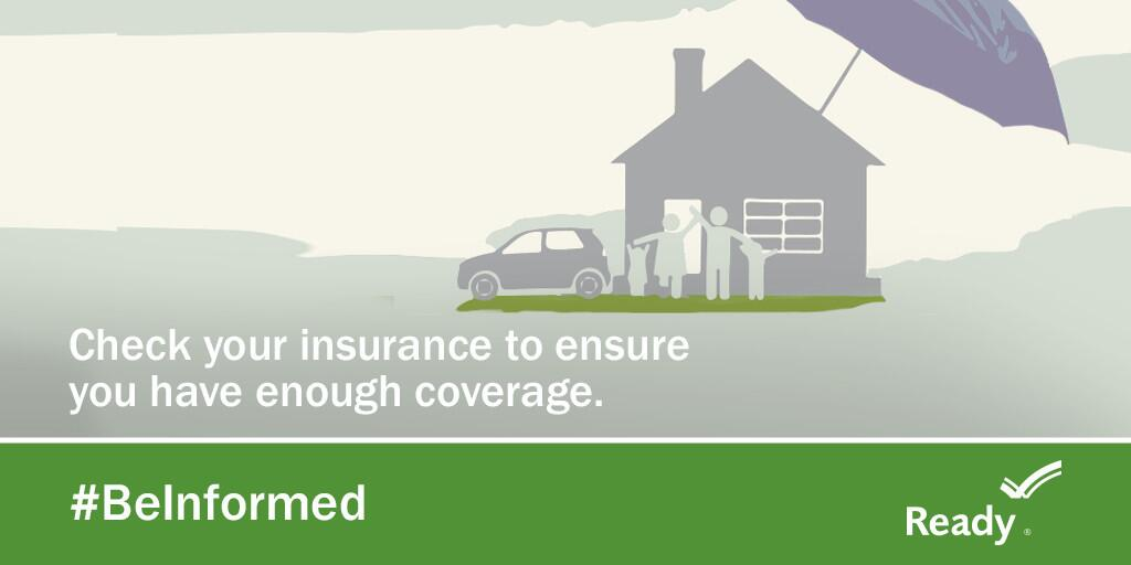 Graphic: check your insurance to ensure you have enough coverage.