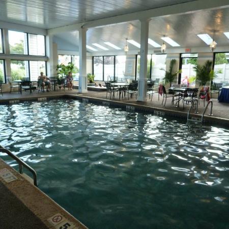 Inside heated pool