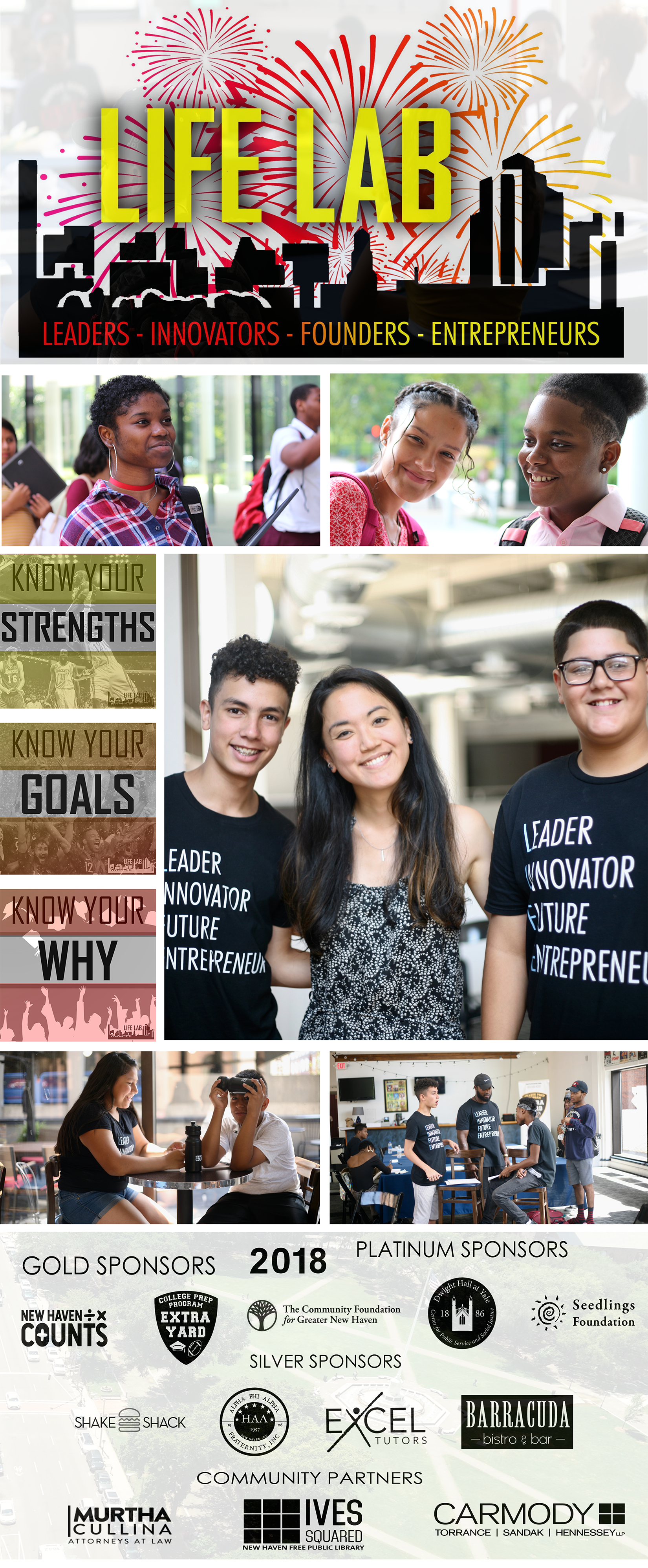 CELEBRATING the RAW entrepreneur-ial TALENT of new haven students INVIGORATESus all. - We could not accomplish our goals without the support, involvement, and enthusiasm of our committed supporters and financial contributors.