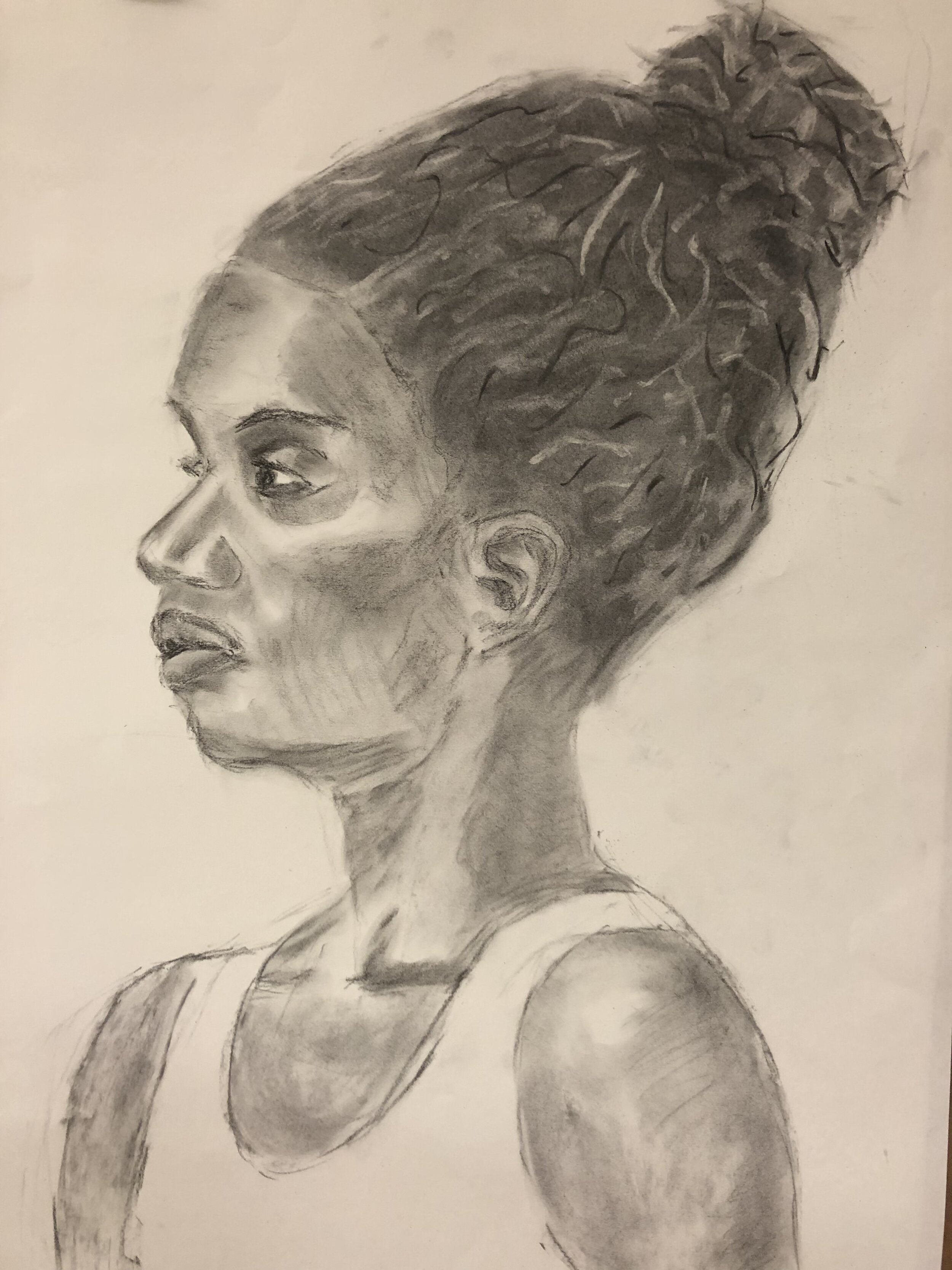 Maggy Shell's charcoal drawing of Sojourner, 2019