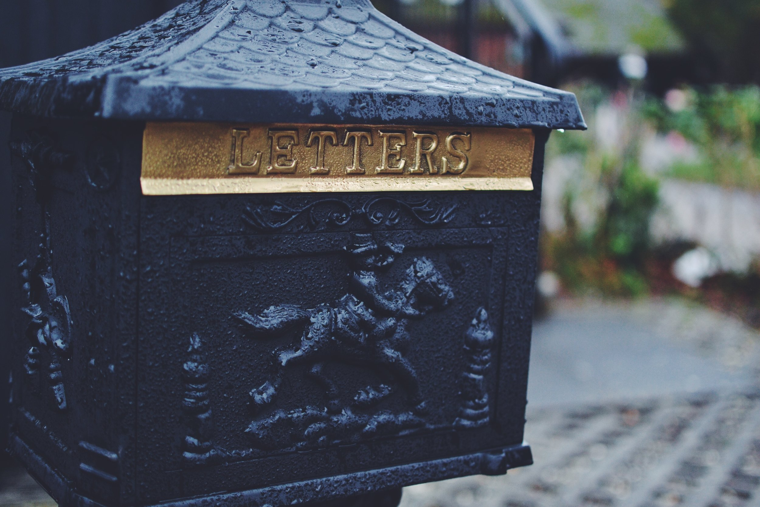 Photo by  Kirsty TG  on  Unsplash  (letterboxes looks differently outside of US)