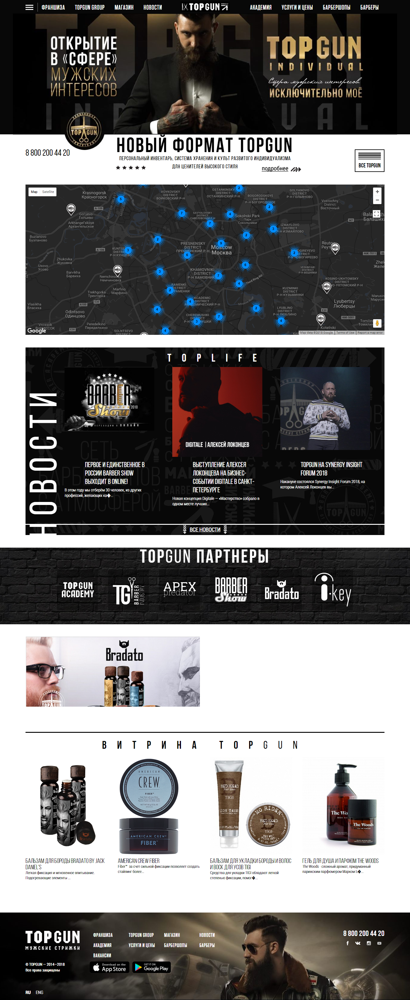 Website: http://topgunbarbershop.ru/. Date of access: 06/09/2018