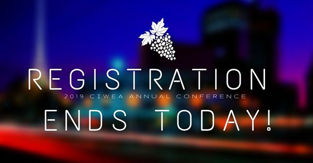 Today is the last day to register! Go to https://ciwea2019conference.eventbrite.com before you miss it! #ciwea #napa