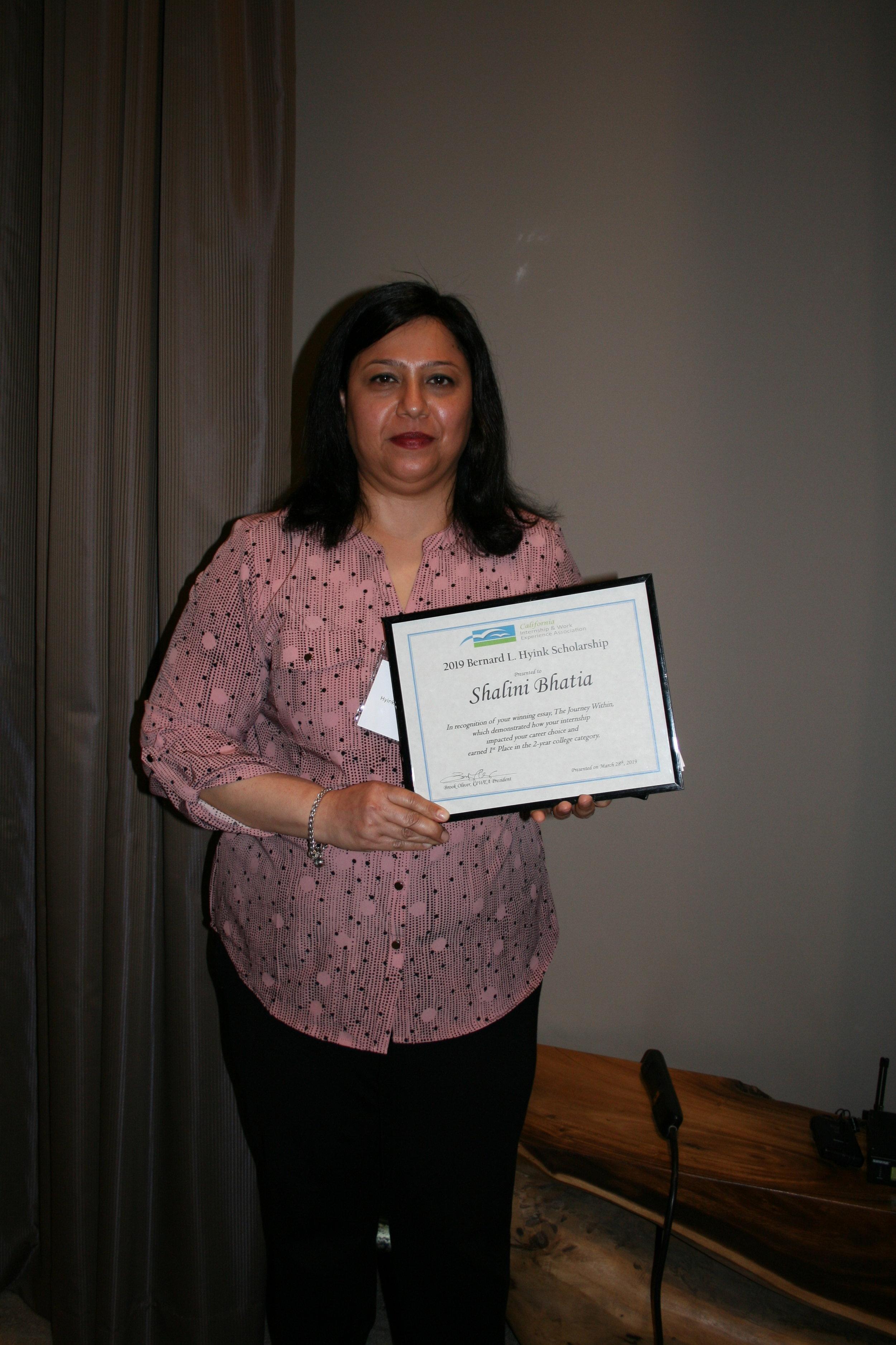 2019 Hyink Winner, Shalini Bhatia