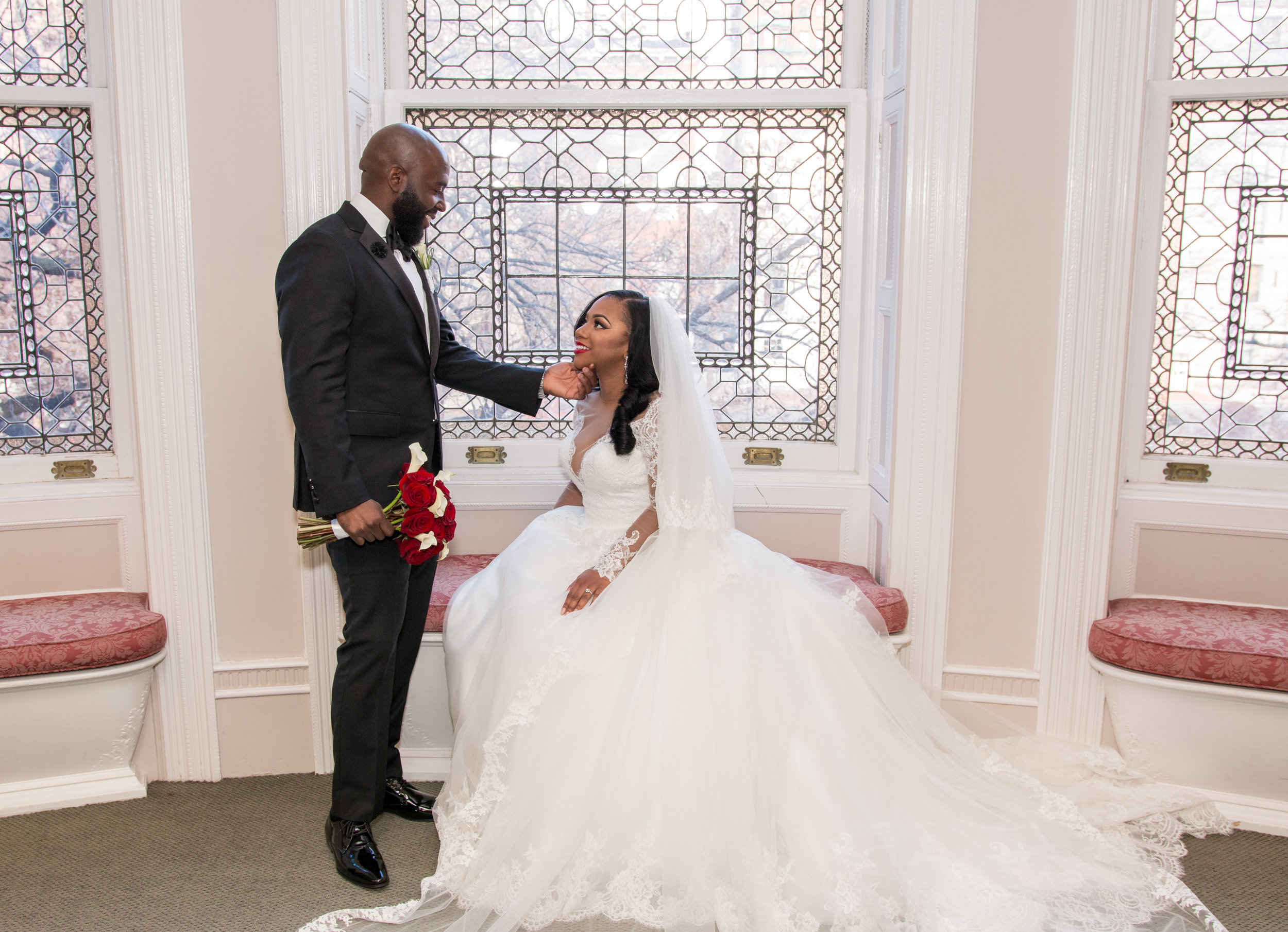 Megan L. - My husband's wedding tux made by DifferentRegard was absolutely flawless! Fine craftsmanship and great customer service is what you can expect when purchasing from Different Regard.