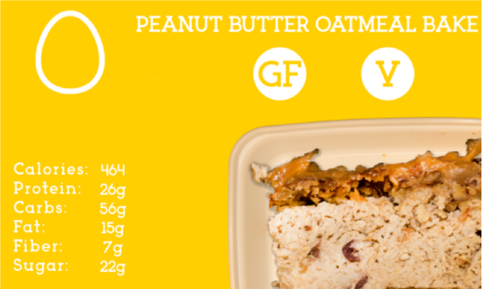 Baked rolled oats with whey protein topped with a creamy peanut butter - honey crust