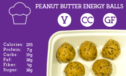 Whey protein packed peanut butter balls with oats, honey, and chocolate chips