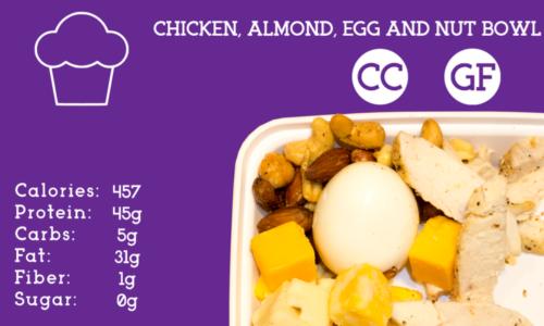 Chicken, Almond, Egg, & Cheese