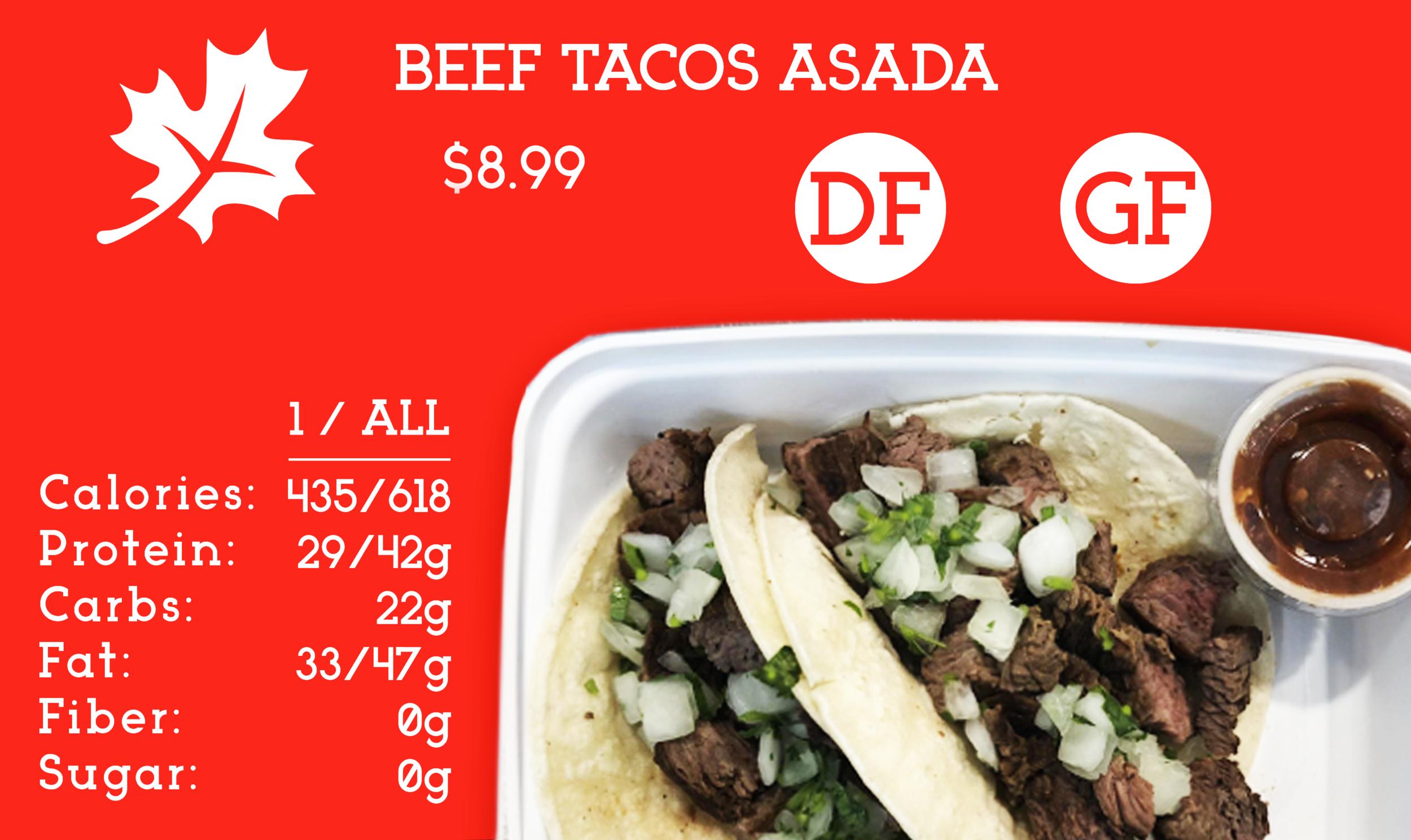 Beef Tacos Asada