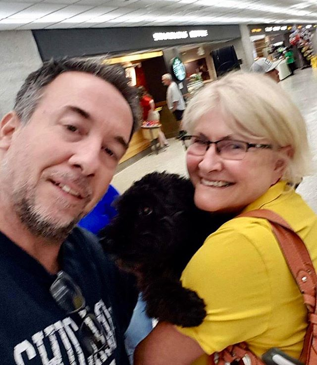 A new story begins....our new Pumi arrived tonight.  It was scary when I couldn't find her but then found her safe and sound.  She dealt with the trip better than me!  Meet Ovation!