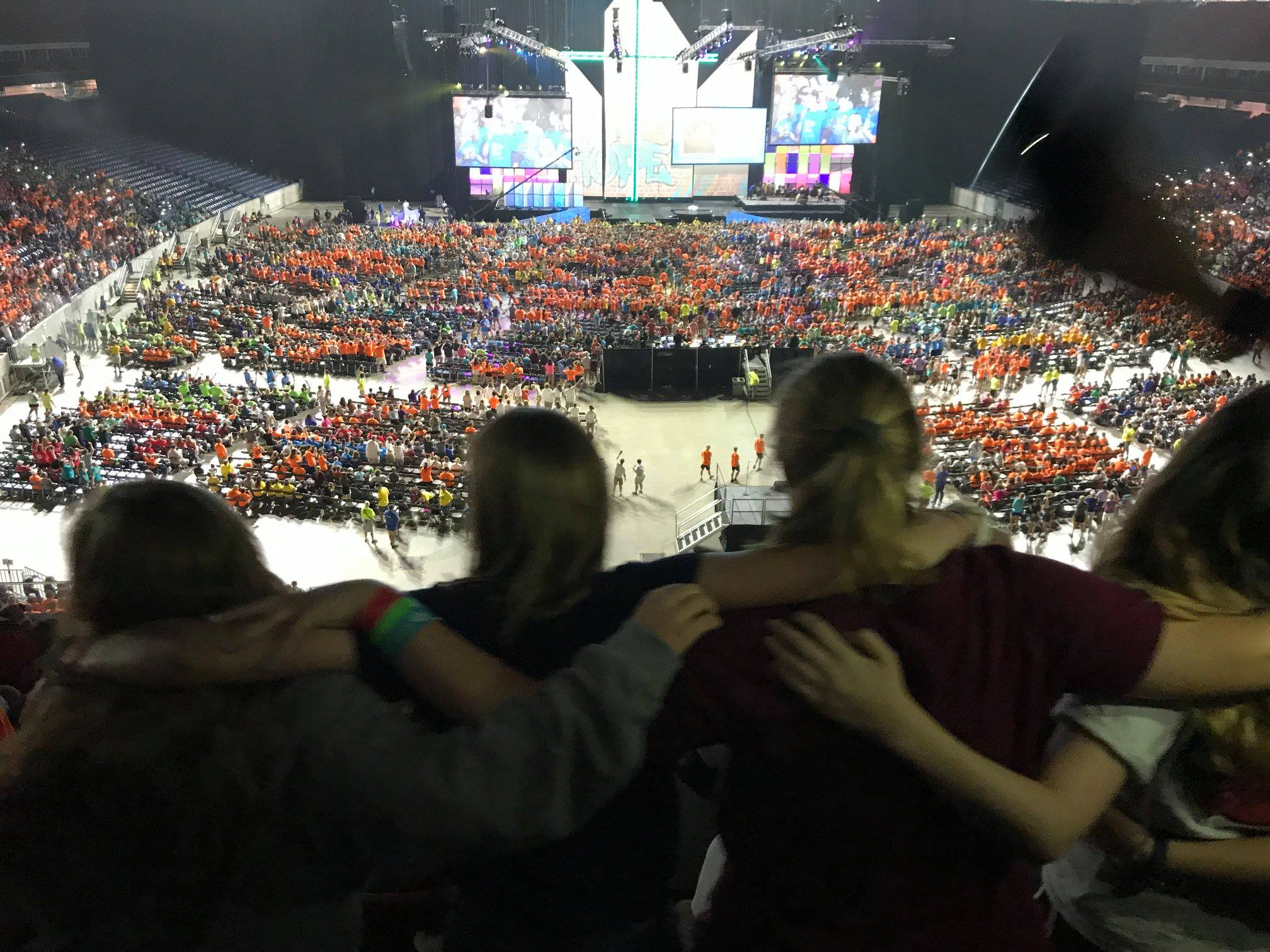 Our Youth spending time at the Mass Gathering.