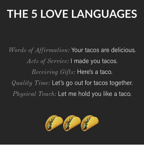 A fun way to consider the 5 Love Languages!