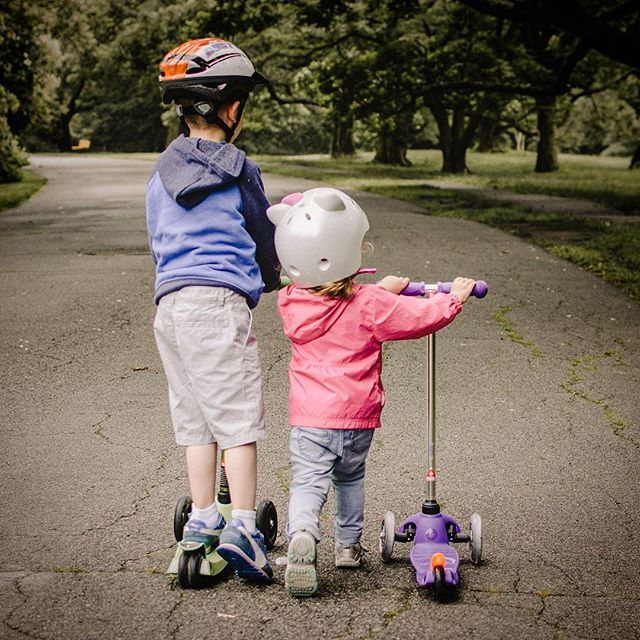 Scooter in for the right fit at Brooks Shoes for Kids! #friday #scooter #siblings #friends Photo by kelly sikkema