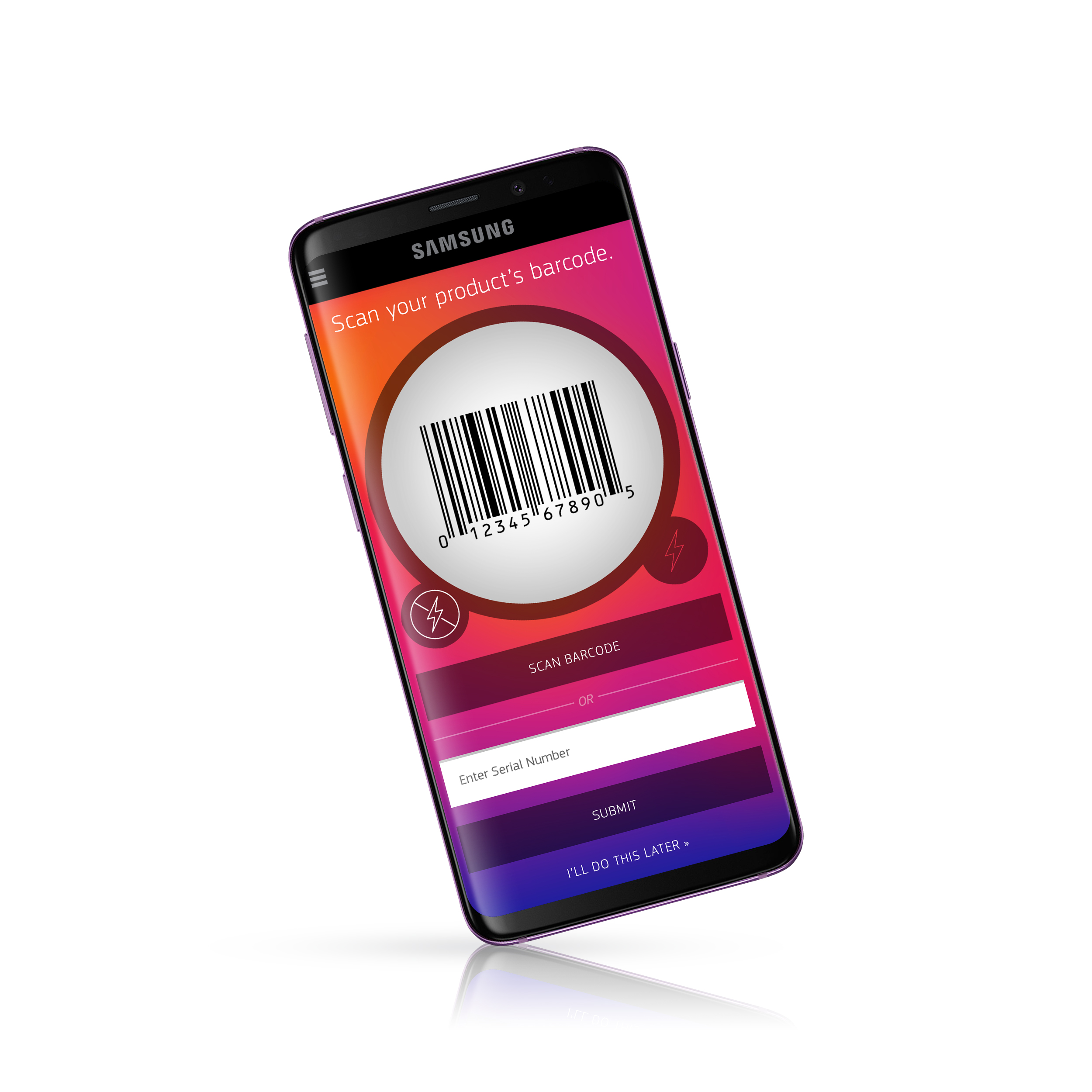 Product Scanner - Users can easily scan the barcode from recent purchases to register them in the app and gain future support and information about updates.