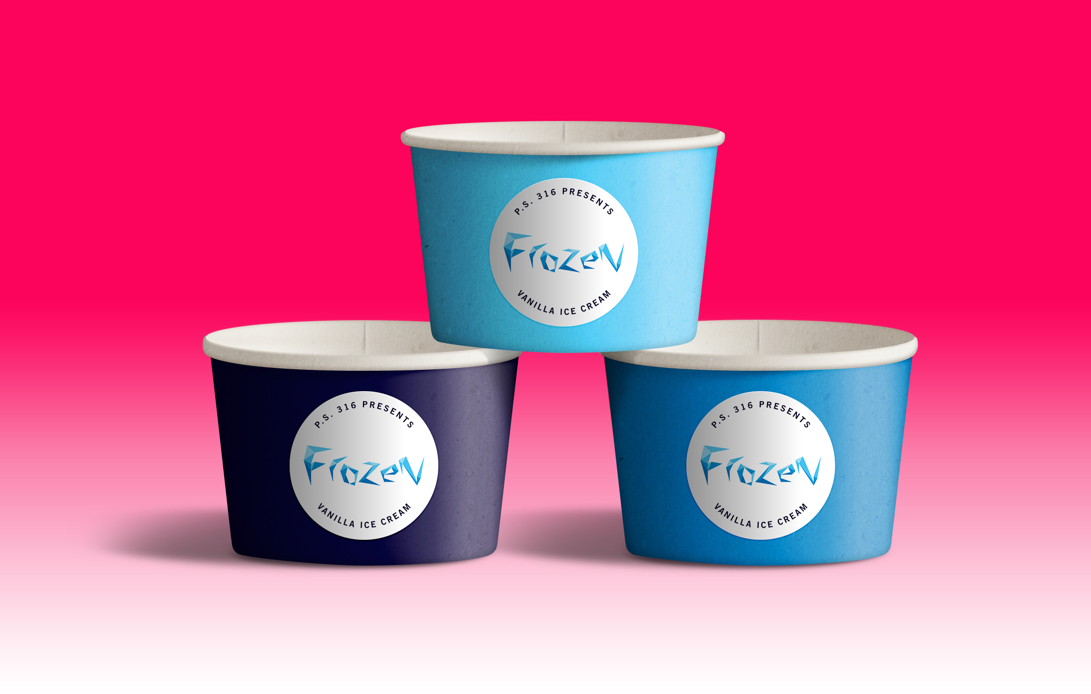 Ice Cream Cups - What do you serve at an elementary school's production of Frozen besides ice cream? Seemed like a no-brainer.