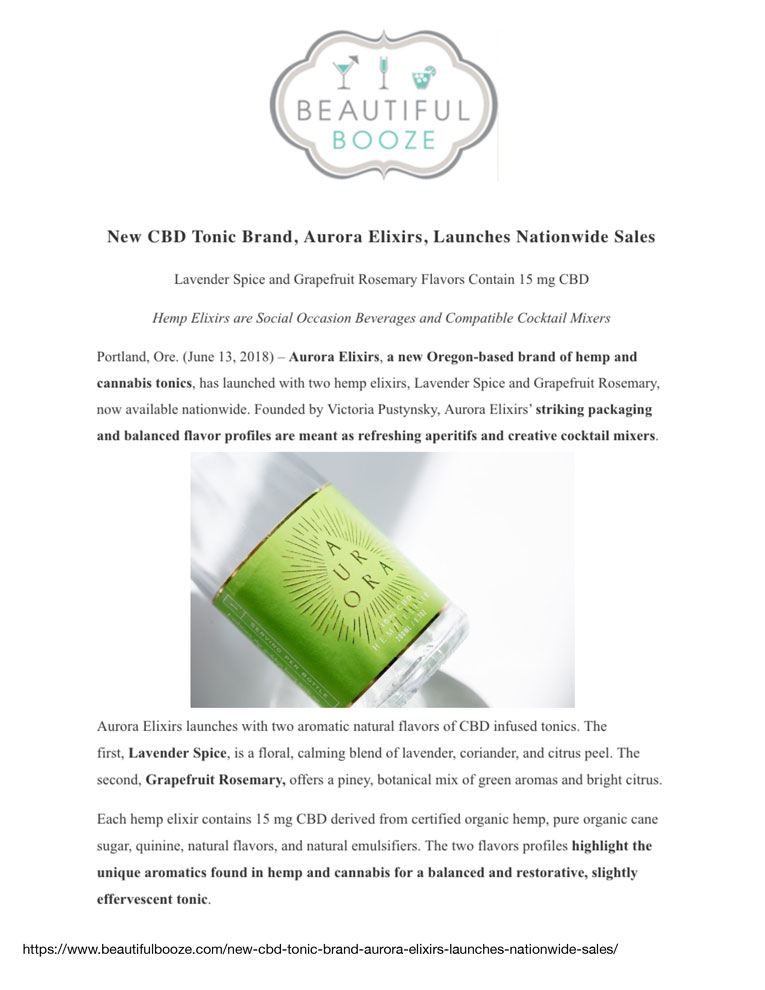 Beautiful Booze June 13, 2018    Click to View Article PDF