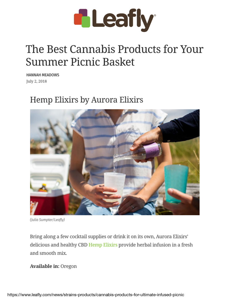 Leafly July 2, 2018    Click to View Article PDF