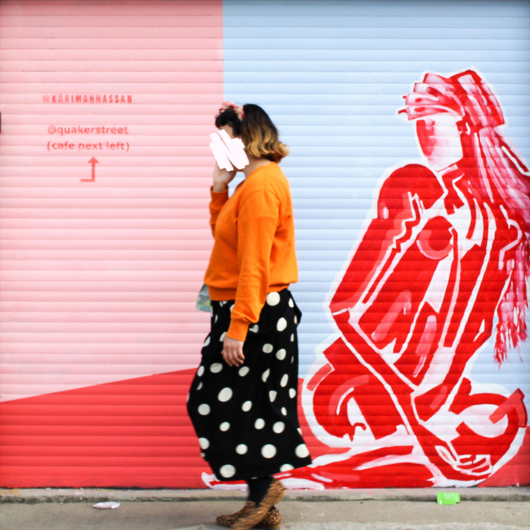 Karimah Hassan, Commissioned mural by Quaker Street cafe, Shoreditch