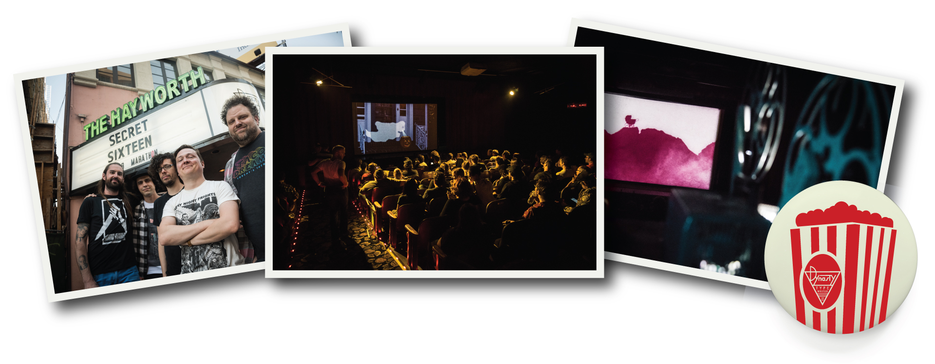 From Left to Right: Secret 16 Horror Movie Marathon (Photos by  Mark Berry )